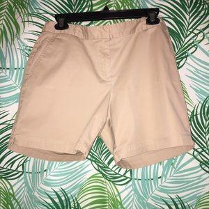 Talbots khaki shorts 8 petite. A classic.